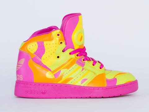 Adidas X Jeremy Scott In Neon Camo Instinct Hi Womens