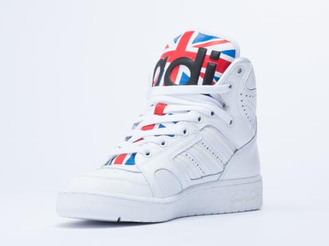 Adidas X Jeremy Scott In Union Jack Instinct Hi Womens