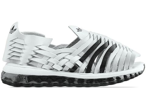 Adidas X Jeremy Scott In White Black Mega Softcell Sandal