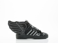Adidas X Jeremy Scott In Black Mesh Wings 2.0