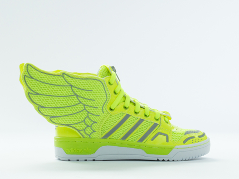 Adidas X Jeremy Scott In Electricity Metallic Mesh Wings 2.0 Mens