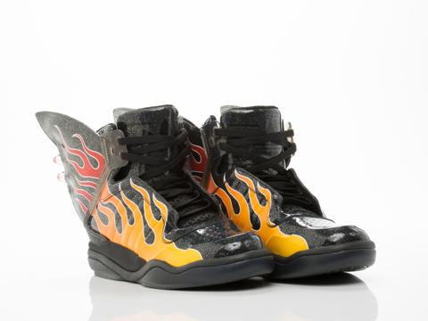Adidas X Jeremy Scott In Black Shark Flame Mens
