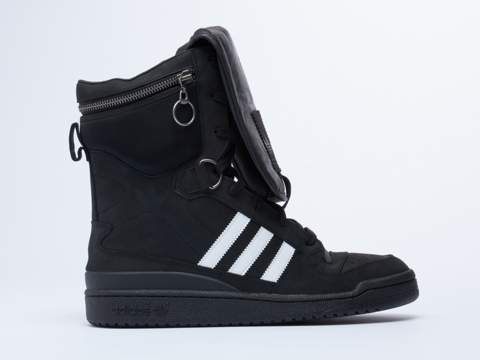 Adidas X Jeremy Scott In Black White Black Tall Boy Mens