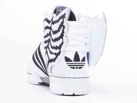 Adidas X Jeremy Scott In Pixel White Black Wings 2.0 Mens