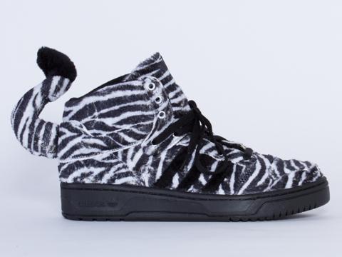 Adidas X Jeremy Scott Zebra