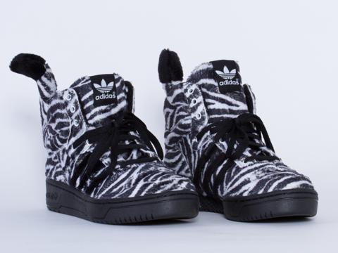 Adidas X Jeremy Scott In Black White Zebra