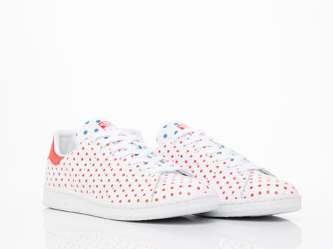 Adidas X Pharrell Williams In White Red PW Stan Smith SPD