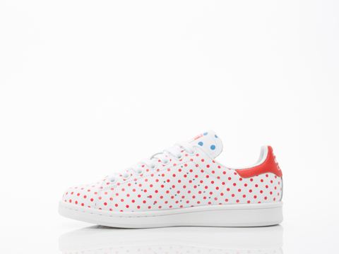 Adidas X Pharrell Williams In White Red PW Stan Smith SPD Womens