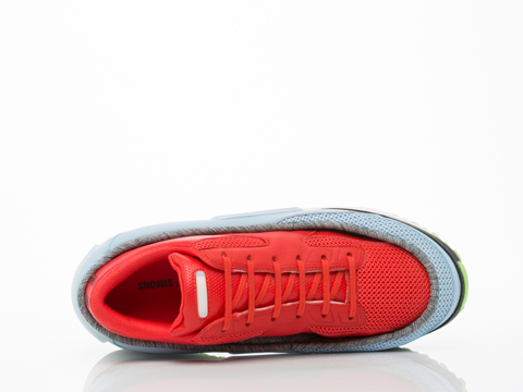 Adidas X Raf Simons In Red Clear Sky Black Platform Lace Mens