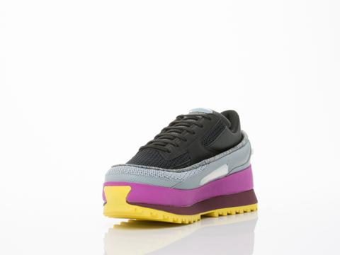 Adidas X Raf Simons In Black Grey Multi Platform Lace Womens