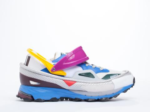 Adidas X Raf Simons In White Air Force Blue Response Trail Mens