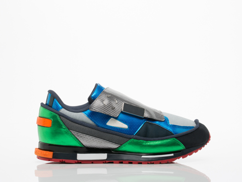 Adidas X Raf Simons In Light Grey Black Green Rising Star 2 Mens