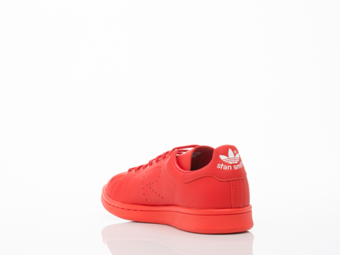 Adidas X Raf Simons In Red Stan Smith Womens