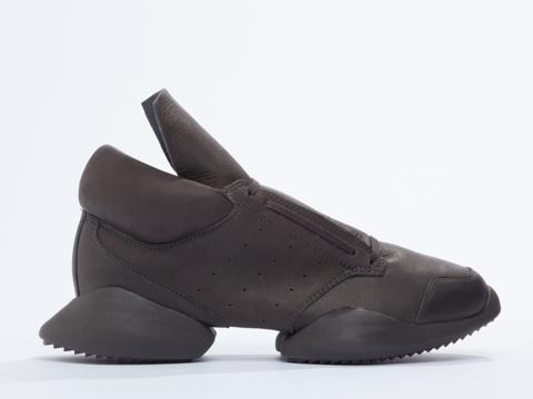 Adidas X Rick Owens In Dark Dust Leather Runner