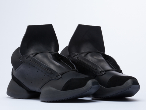 Adidas X Rick Owens In Black Black Bone Runner Mens