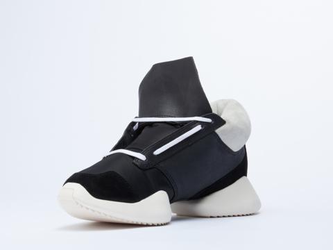 Adidas X Rick Owens In Black White Black Runner Mens
