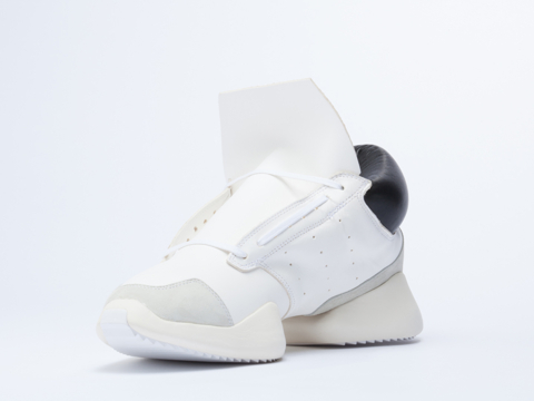 Adidas X Rick Owens In White Black Bone Runner Mens