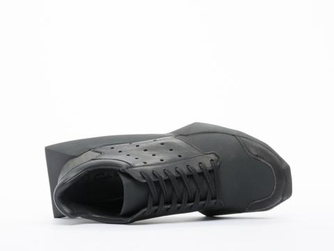 Adidas X Rick Owens In Black Black Tech Runner