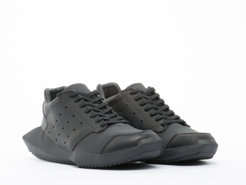 Adidas X Rick Owens In Black Black Tech Runner