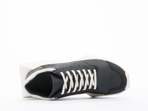 Adidas X Rick Owens In Black Bone Tech Runner