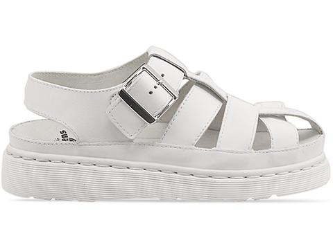 Agyness Deyn X Dr. Martens In White Aggy Interlace Sandal
