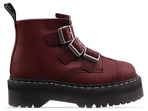 Agyness Deyn X Dr. Martens In Cherry Red Rouge Aggy Strap