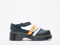 Agyness Deyn X Dr. Martens In Navy White Acid Orange Aggy Strap Shoe