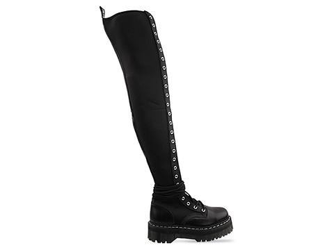 Agyness Deyn X Dr. Martens In Black Aggy Tall