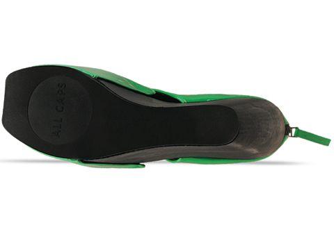 All Caps In Green Patent Azalea