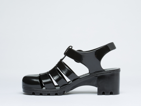 American Apparel In Black Woven Jelly Heel