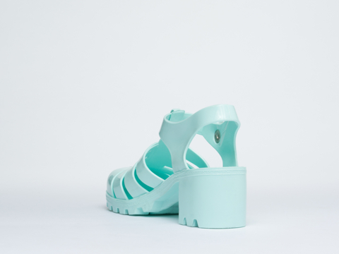 American Apparel In Sea Foam Woven Jelly Heel