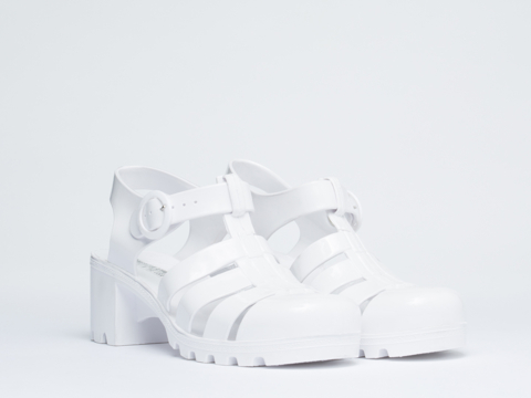 American Apparel In White Woven Jelly Heel