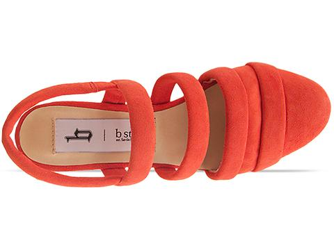 B Store In Coral Suede New Edwige 6
