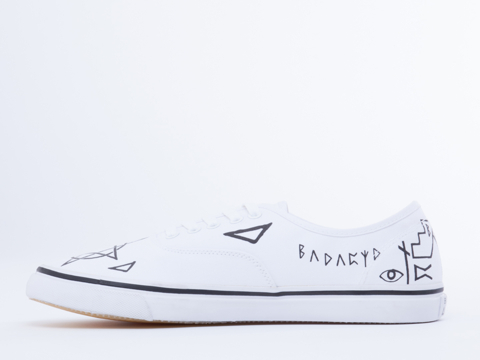 Bad Acid In Pentagram Lace Up Sneaker