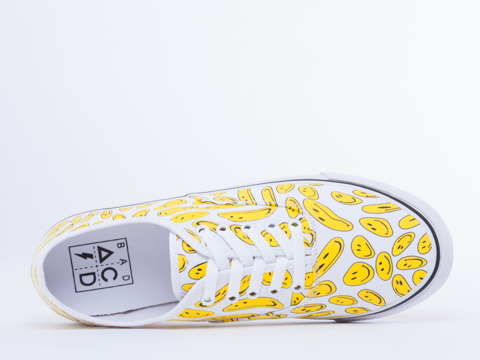 Bad Acid In Smiley Lace Up Sneaker