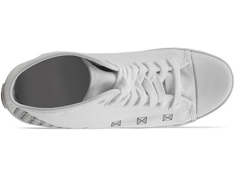 Be And D Mens In White Silver Studded