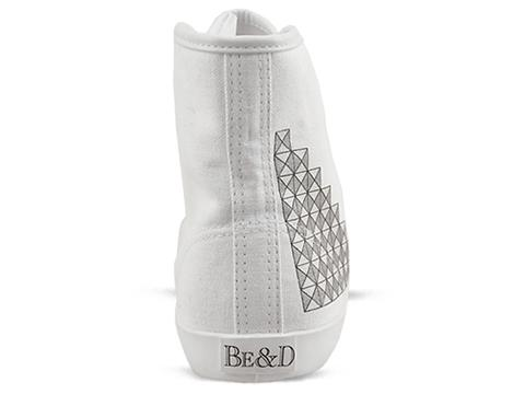 Be And D In White Silver Studded
