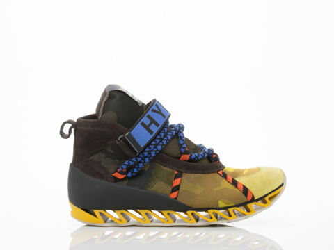 Bernhard Willhelm X Camper In Yellow Camo Multi Himalaya Mens