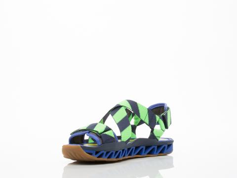 Bernhard Willhelm X Camper In Blue Green Multi Himalayan Sandal Mens