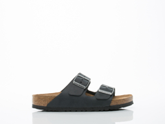 Birkenstock In Black Arizona Leather