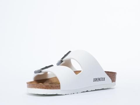 birkenstock white arizona leather