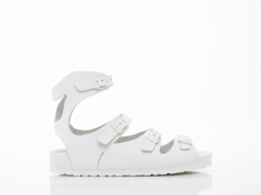 Birkenstock In White Leather Athens