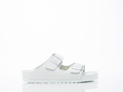 Birkenstock In White Leather Monterey Exquisite