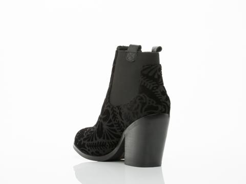 Black Milk Clothing X Solestruck In Black Burned Velvet Alex
