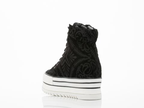 Black Milk Clothing X Solestruck In Black Burned Velvet Charli