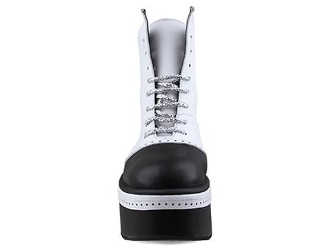 Buffalo X Moonspoon Saloon In White Black Diamonds And Pearls Mens