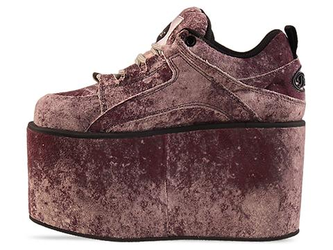 Buffalo X Moonspoon Saloon In Vulcano Grey Platform Sneaker