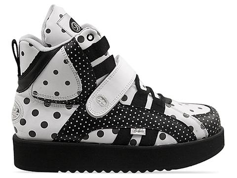 Buffalo X Solestruck In Napa Blanco Napa Negro Dots 1345-4 Mens