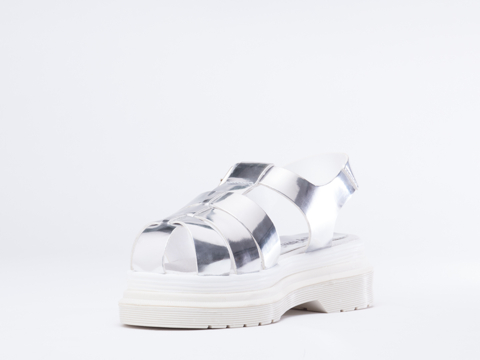Buffalo X Solestruck In Spechio Silver 4012-15