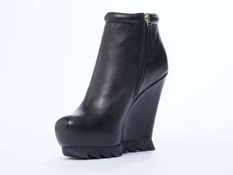 Camilla Skovgaard In Black Ankle Wedge Boot